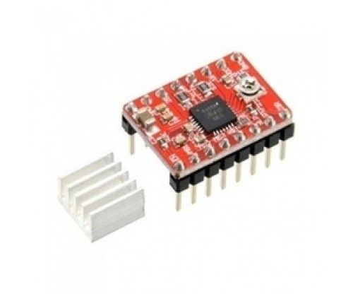 A4988 Stepper Motors Driver Module With Heat Sink For