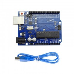 Arduino Uno - R3 (Clone) with Programming Cable