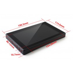 """7"""" Capacitive Touch Screen With Plastic ABS Case For Raspberry Pi 3 and Raspberry Pi 4"""