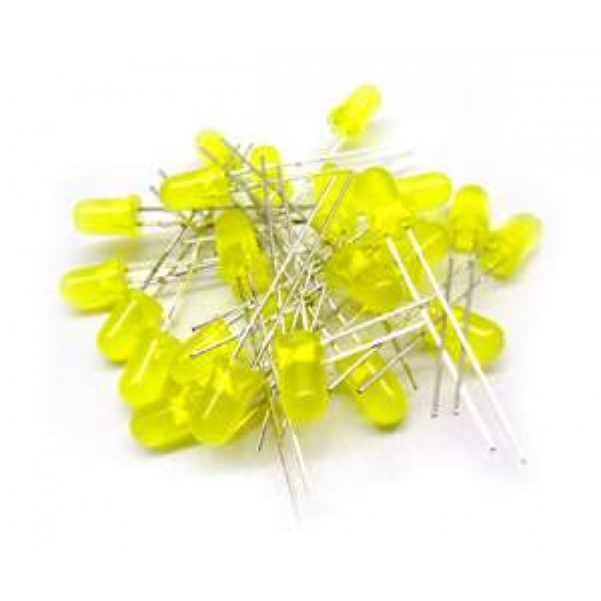 5mm Diffused Yellow LED (Pack of 25)