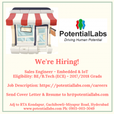 We're Hiring - Embedded & IoT Sales Engineer