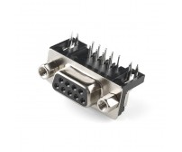 DB9 Female Right Angle Connector - 9 Pin - PCB Mount