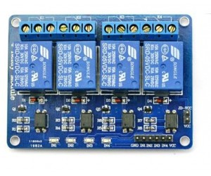 4 Channel Relay Board (5V) for Arduino and Raspberry pi