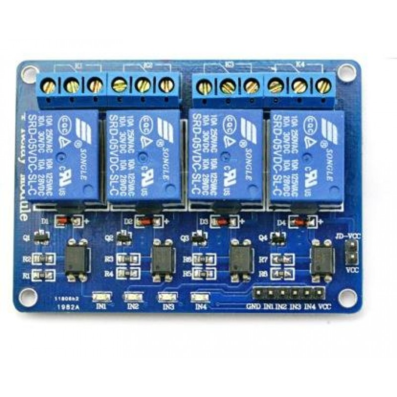4 Channel Relay Module -5V -Active Low on
