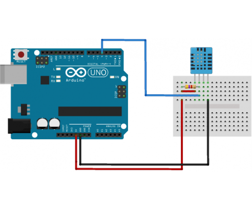Dht humidity and temperature sensor
