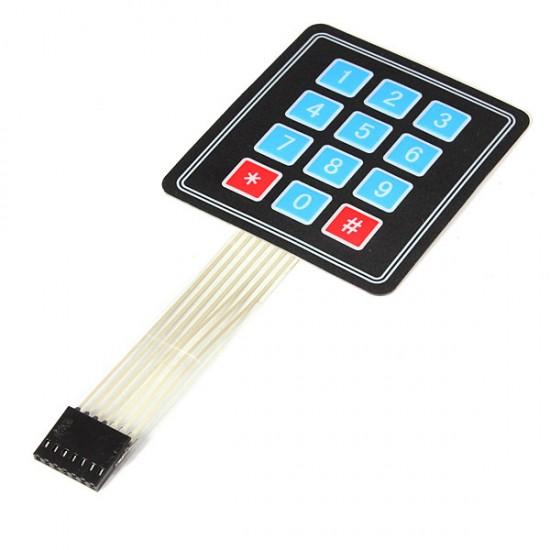 4x3 Keypad - 12 Key - Matrix Membrane Type