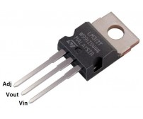 LM317T 3 Terminal Adjustable Positive Voltage Regulator