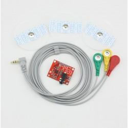 AD8232-ECG Monitor Sensor Module with Electrodes