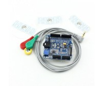 EKG/EMG Shield for Arduino with Cables and Electrodes
