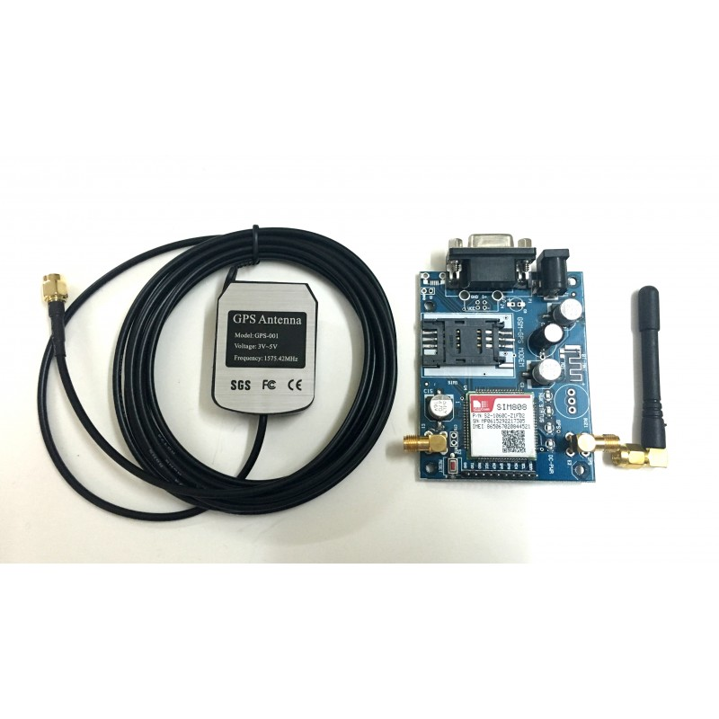 SIM 808 GSM/GPRS/GPS Module with GPS and GSM Antenna