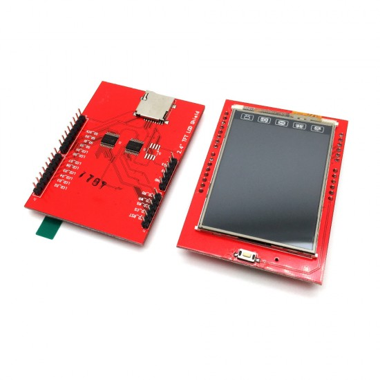 """2.4"""" TFT LCD Touch Screen - Arduino Shield"""