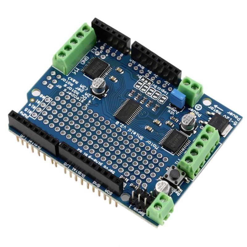 Motor stepper servo robot shield for arduino v with pwm