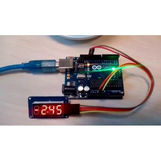TM1637 Based 4 Bits Red Digital Tube LED Display Module