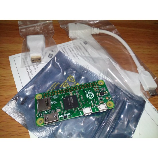 Raspberry Pi Zero with Adapters (USB and HDMI)