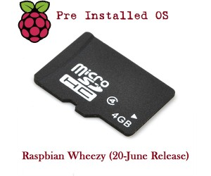 4GB Micro SD Card for Raspberry Pi