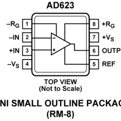 AD623AN - AD623 Single Supply Instrumentation Amplifier