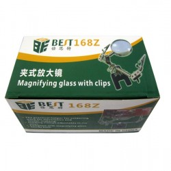 BEST-168Z Magnifying Glass Stand with 2 Clips