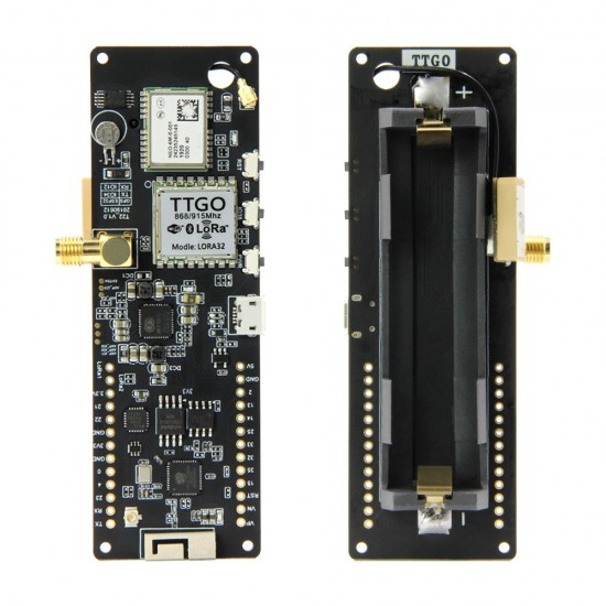 TTGO T-Beam ESP32 WiFi Wireless Bluetooth Module with LoRa 868Mhz Module, GPS NEO-6M & 18650 Battery Holder