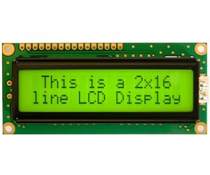 LCD - Alphanumeric - 16X2 Characters - JHD 162A