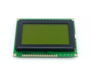 128x64 Graphical LCD Display (Yellow)
