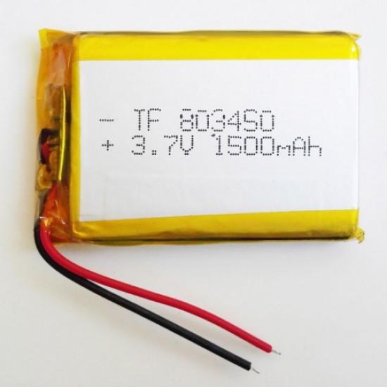 3.7v 1500 Mah  Lipo Battery