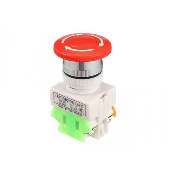 23mm Mounting Hole Red Sign Emergency Stop Push Button Switch