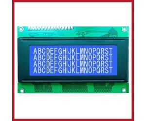 20x4 -LCD - Alphanumeric Characters - JHD629 - White Display, Blue Backlight